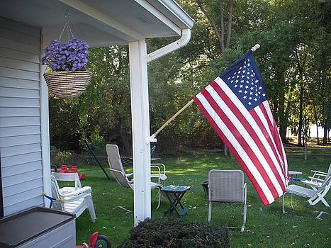 American Flag by Deborah Finley
