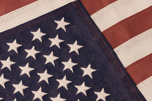 Jill Lang - American Flag in Antique Tones