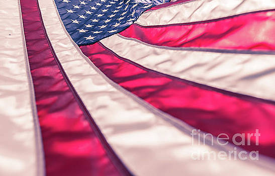 American flag in red white stripe,stars and blue symbolic of pat by Jingjits Photography