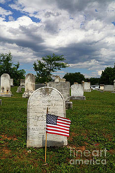 James Brunker - American Flag in Uniontown Cemetery Maryland