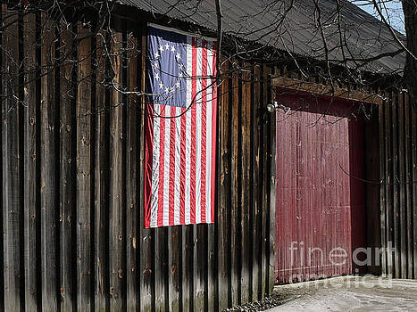 American Flag on a Barn by Edward Fielding