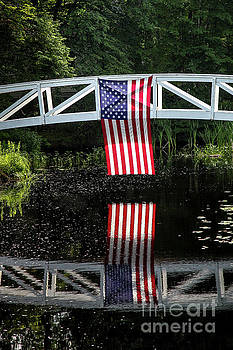 American flag with reflections by Miro Vrlik