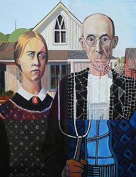 Katherine Huck Fernie Howard - American Gothic after Grant Wood in Six Styles