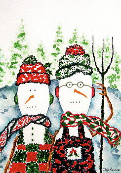 American Gothic Snowcouple by Christine Ambrose