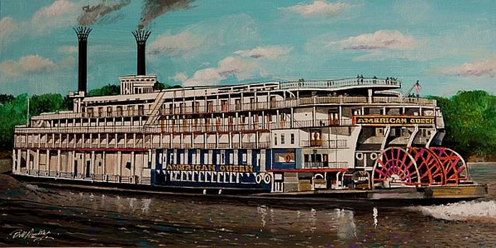 American Queen Steamboat by Bill Dunkley