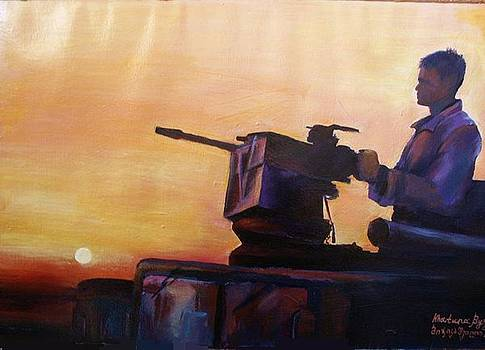 American Solder In Iraq by Khatuna Buzzell