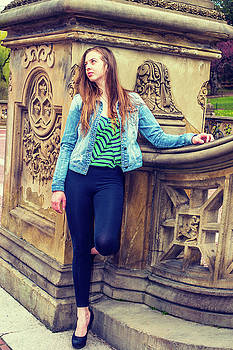Alexander Image - American Teenage Girl Missing You at Central Park in New York.