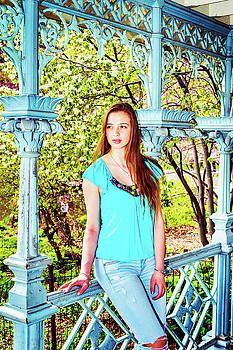 Alexander Image - American Teenage Girl Relaxing at Central Park, New York
