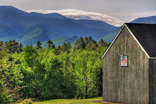 Americana Barn and Flag - Sugar Hill, NH by Joann Vitali