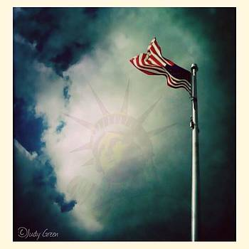 #americanflag #flag #statueofliberty by Judy Green