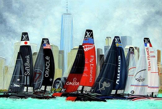 America's Cup New York City by Leonardo Ruggieri