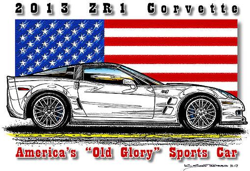 America's Old Glory 2013 ZR1 Corvette by K Scott Teeters