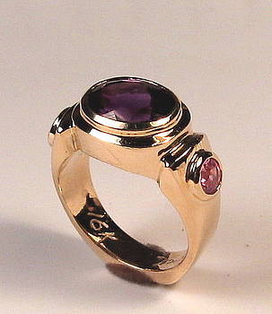 Danny Shaw - Amethyst and Sapphire deco ring