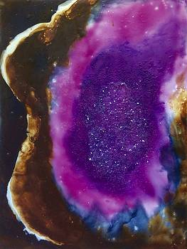 Amethyst Encaustic Abstract by Kay Shaffer