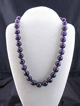 Amethyst necklace 1 by Sarupa  Shrestha