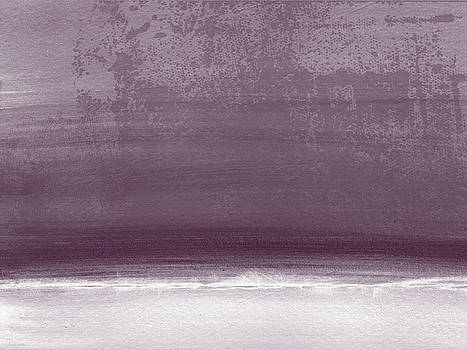 Amethyst Shoreline- Abstract art by Linda Woods by Linda Woods