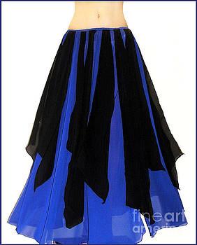 Sofia Metal Queen - Ameynra belly dance fashion - black-blue skirt 4
