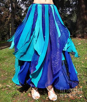 Sofia Metal Queen - Ameynra belly dance fashion - Blue-teal skirt 46