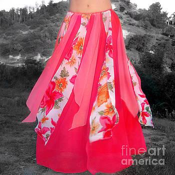 Sofia Metal Queen - Ameynra belly dance fashion - petal skirt 245