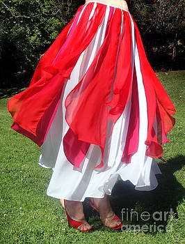 Sofia Metal Queen - Ameynra belly dance fashion - Red-white skirt 5