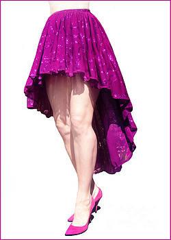 Sofia Metal Queen - Ameynra fashion high-low sparkly skirt 18