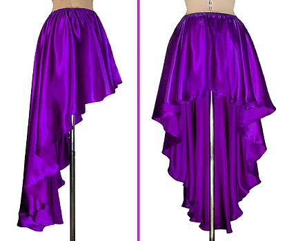 Sofia Metal Queen - Ameynra fashion purple satin high low skirt