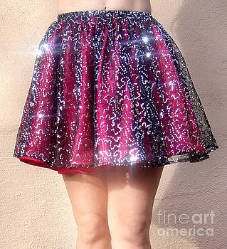 Sofia Metal Queen - Ameynra fashion sequin mini skirt, silver-burgundy