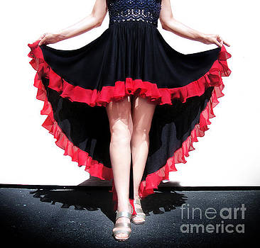 Sofia Metal Queen - Ameynra fashion skirt. Mix of Spanish dance and Gothic style