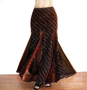 Sofia Metal Queen - Ameynra fashion. Sparkling brown skirt