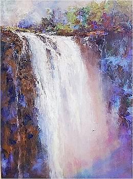 Rainbows, Wailua Falls, Kauai by Ed Furuike