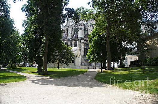 Amiens Cathedral - park view by Therese Alcorn