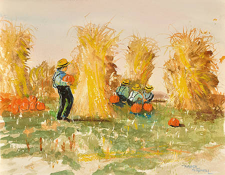 Amish Boys in the Pun'kin Patch by Harmon Montgomery