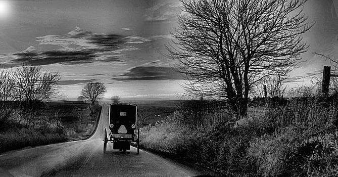Amish Sunset by William Griffin