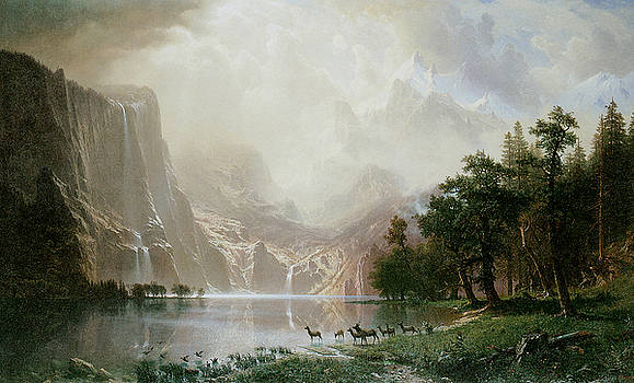 Albert Bierstadt - Among the Sierra Nevada Mountains California