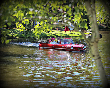 Amphicar Swimming by Steve Natale