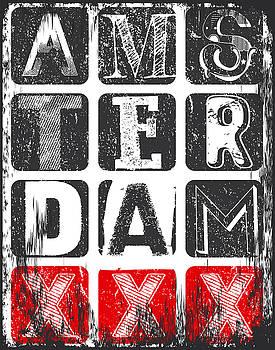 Amsterdam Athletic sport typography, t-shirt graphics, vectors by Tolga Ozcelik
