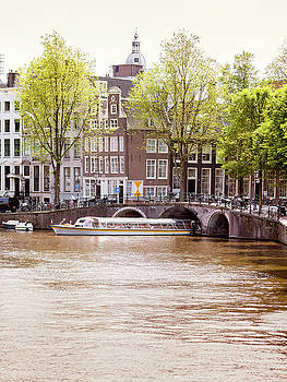 Amsterdam canal before sunset. Amsterdam is the capital and most by Alfio Finocchiaro