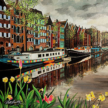 Amsterdam  Canal by Bill Dunkley