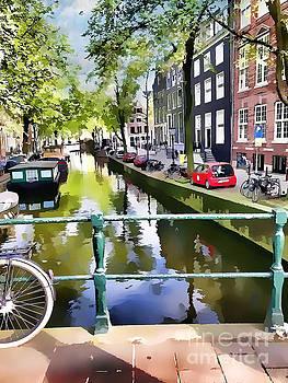 Amsterdam Canal by Judy Palkimas
