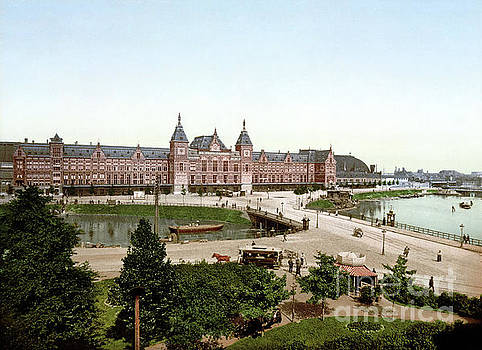 Amsterdam Central Station c1890-1905. by Art Revisited