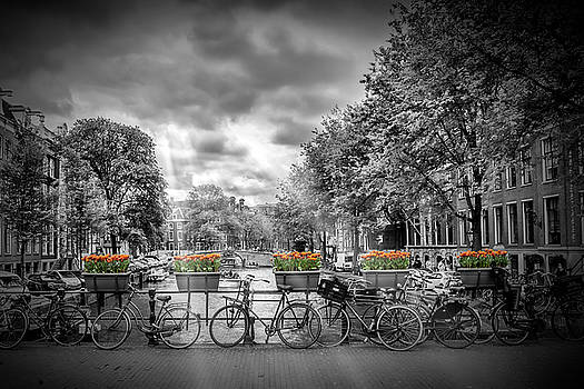 AMSTERDAM Gentlemens Canal Typical Cityscape by Melanie Viola