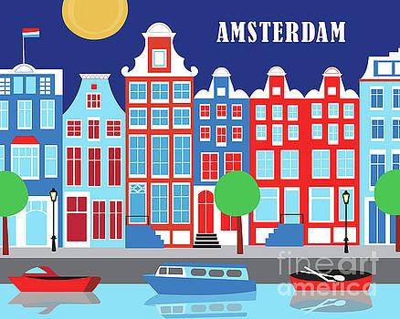 Amsterdam Netherlands Horizontal Scene by Karen Young