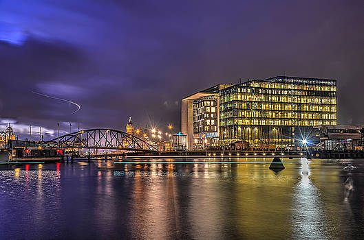 Amsterdam Oosterdok at Night by Frans Blok