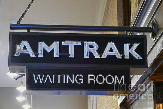 Passenger Train Waiting Room Sign by Catherine Sherman