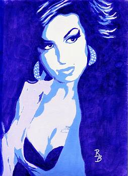 Amy Winehouse Back in Blue by Bob Baker