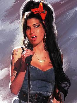 Amy Winehouse on Stage by Brian Tones