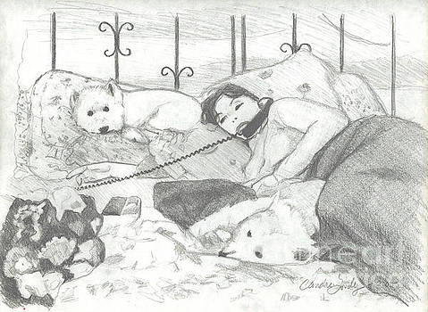 Candace Lovely - Amy with Dogs on Phone