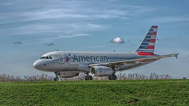 An Airbus A319 in HDR by Guy Whiteley
