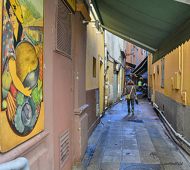 Allen Sheffield - An Alley in Nice