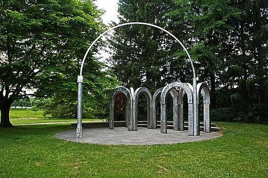 An Arch in the Garden by Michiale Schneider